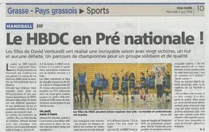Article Nice-Matin du 04/06/2014
