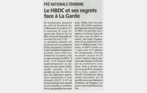 Article Nice-matin du 09/12/2014